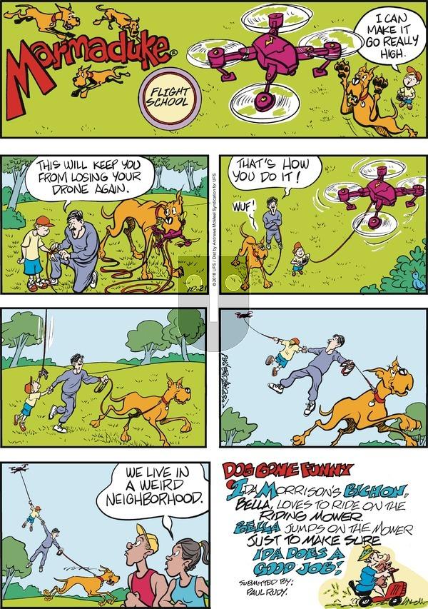 Marmaduke on Sunday October 21, 2018 Comic Strip