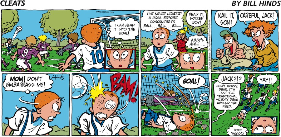Cleats Comic Strip for December 16, 2001