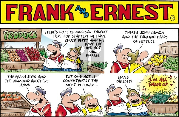 Frank and Ernest - Sunday July 19, 2020 Comic Strip