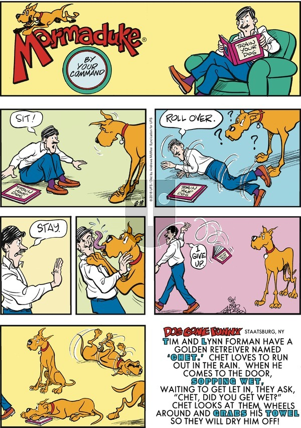 Marmaduke on Sunday August 19, 2018 Comic Strip