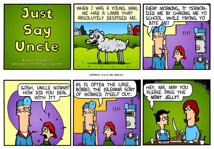 Just Say Uncle Comic Strip for December 02, 2019