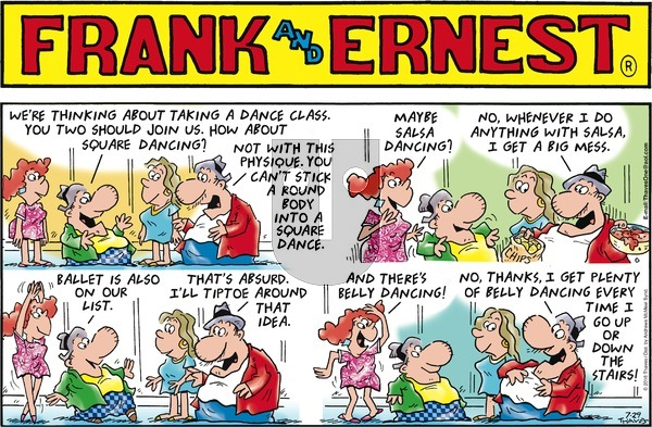 Frank and Ernest on Sunday July 29, 2018 Comic Strip