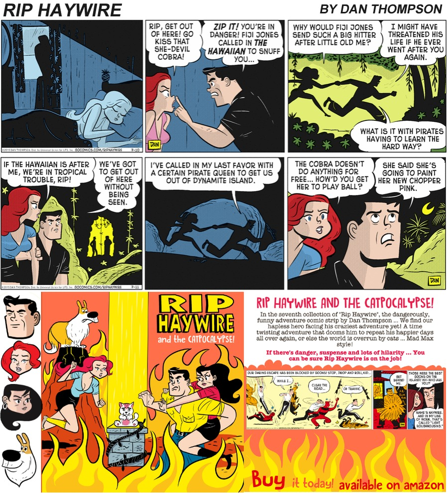 Rip Haywire Comic Strip for October 29, 2017