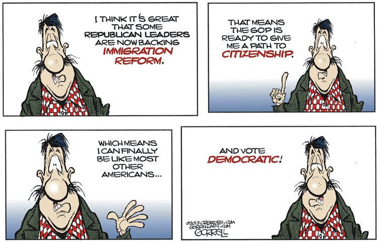 Bob Gorrell for Mar 19, 2013 Comic Strip