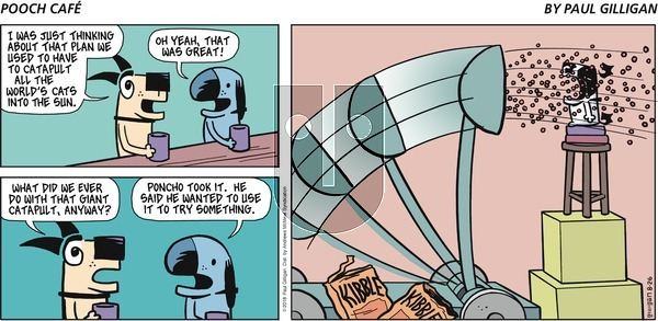 Pooch Cafe on Sunday August 26, 2018 Comic Strip