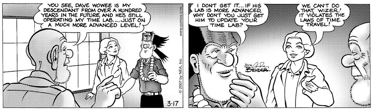 Alley Oop for Mar 17, 2007 Comic Strip