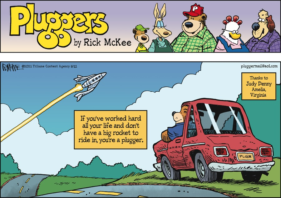 Pluggers Comic Strip for September 12, 2021