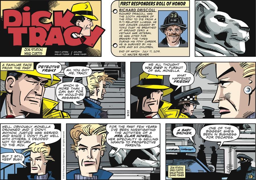 Dick Tracy Comic Strip for September 22, 2019