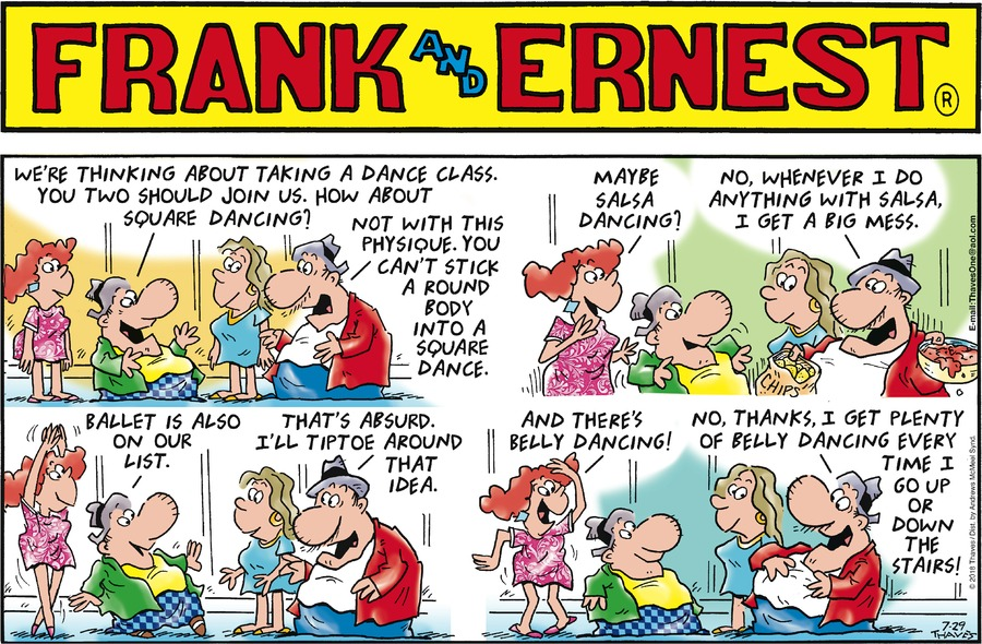 Frank and Ernest Comic Strip for July 29, 2018