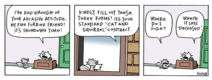 Ten Cats Comic Strip for February 24, 2016