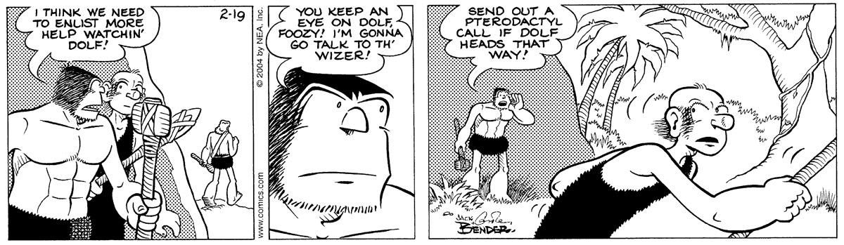 Alley Oop for Feb 19, 2004 Comic Strip