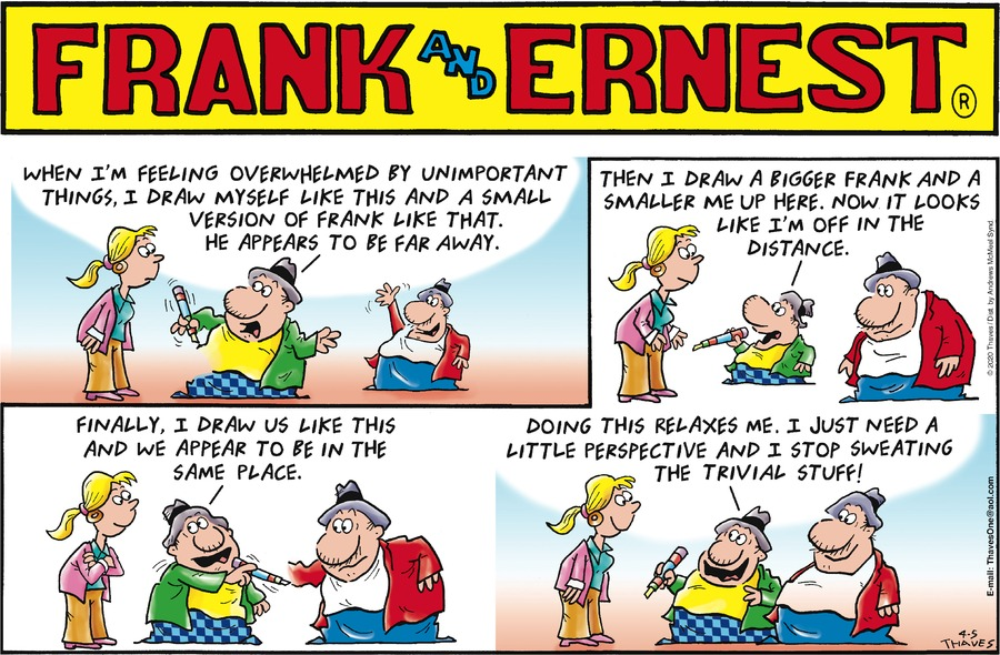 Frank and Ernest Comic Strip for April 05, 2020