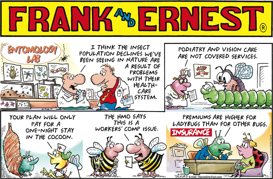 Frank and Ernest Comic Strip for June 23, 2019