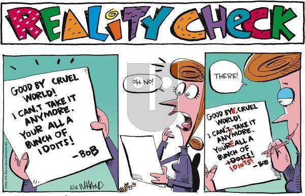 Reality Check on Sunday October 2, 2016 Comic Strip