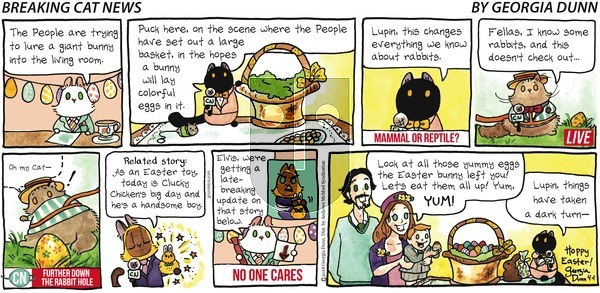 Breaking Cat News on Sunday April 1, 2018 Comic Strip