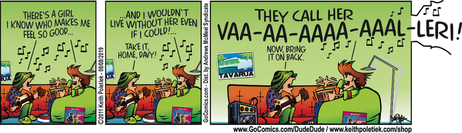 Dude and Dude Comic Strip for August 08, 2019