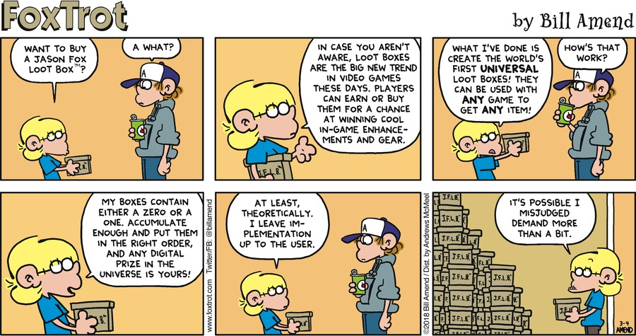 FoxTrot for Mar 4, 2018 Comic Strip
