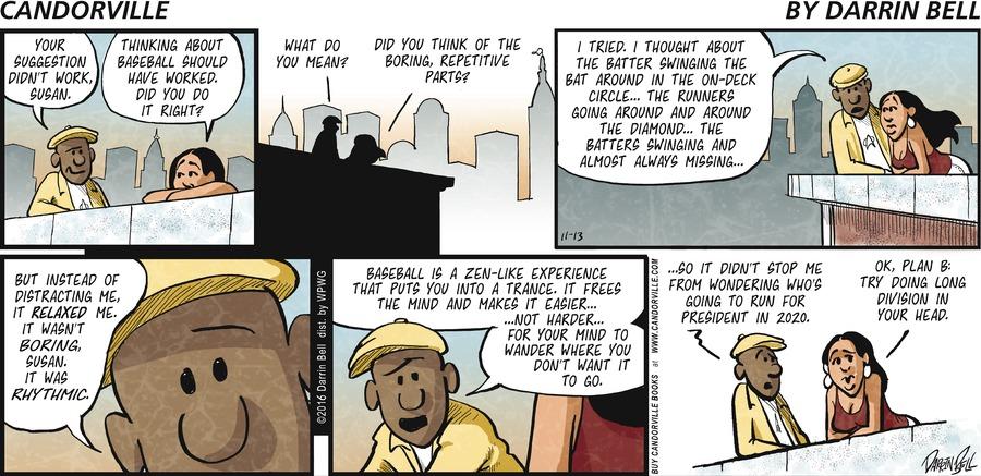 Candorville Comic Strip for November 13, 2016