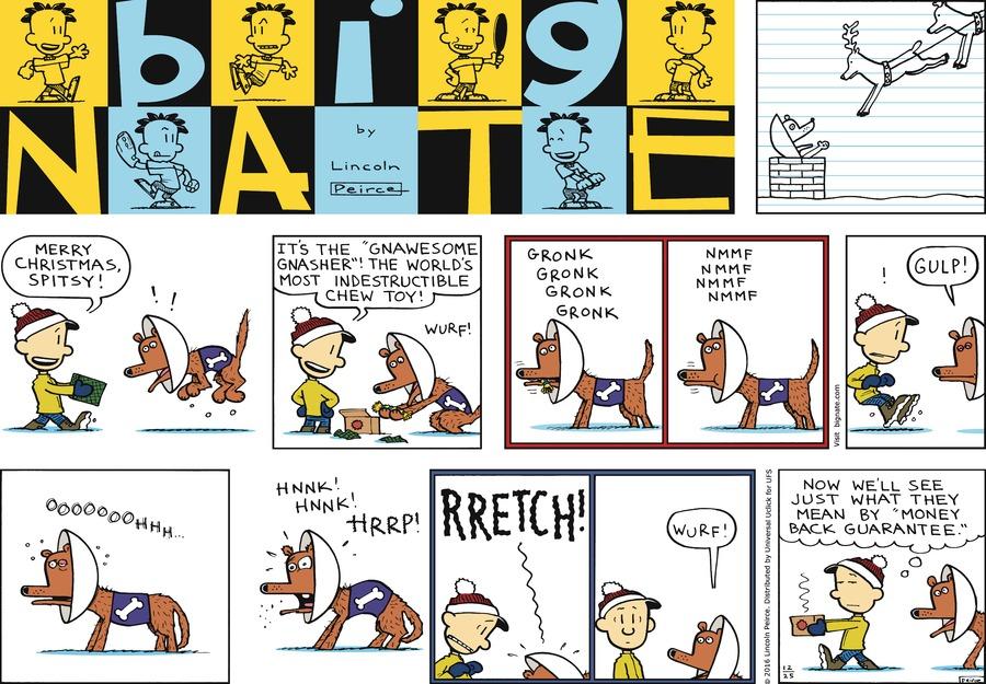 Big Nate Comic Strip for December 25, 2016