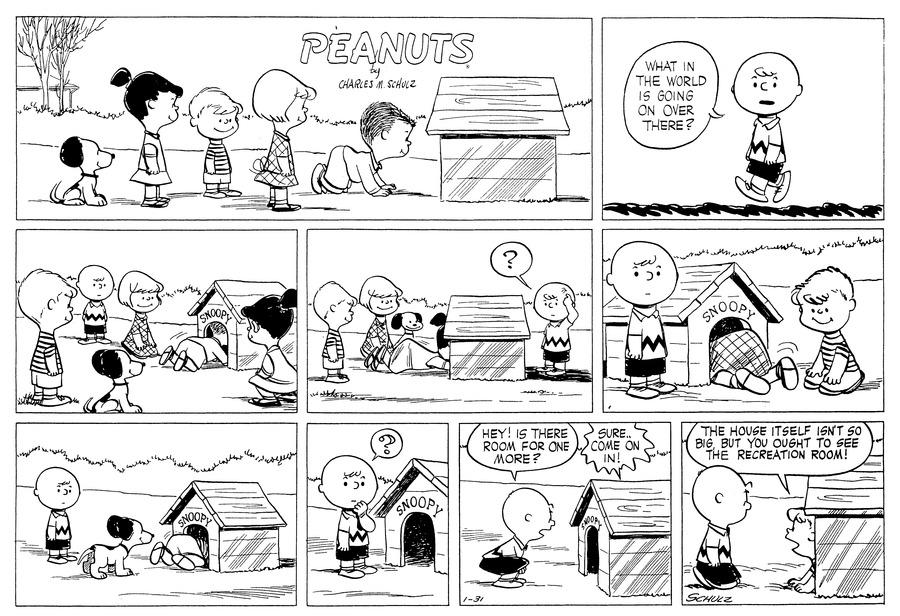 Peanuts for Jan 31, 1954 Comic Strip