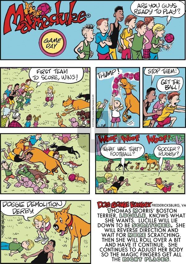 Marmaduke - Sunday September 8, 2019 Comic Strip
