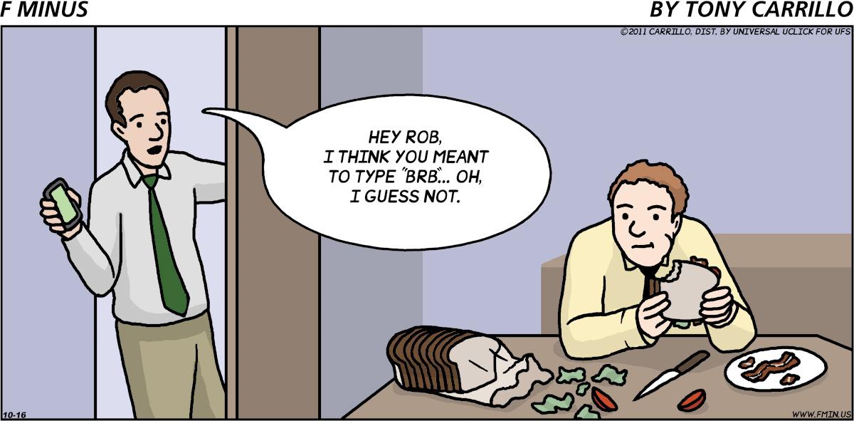 F Minus for Oct 16, 2011 Comic Strip