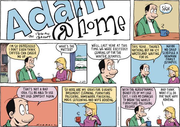 Adam@Home for Jan 23, 2011 Comic Strip