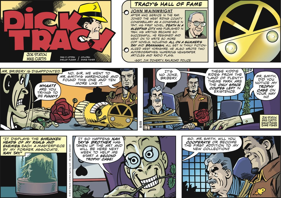 Dick Tracy Comic Strip for August 09, 2015