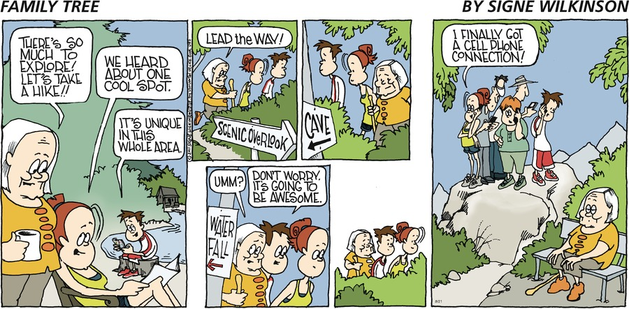Family Tree Comic Strip for August 25, 2019