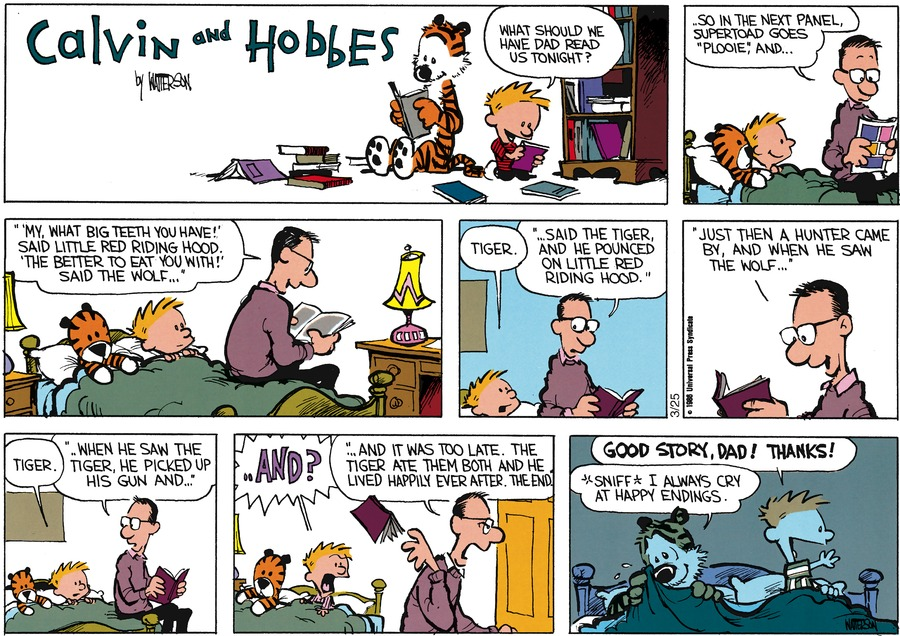 Calvin and Hobbes Comic Strip for February 02, 1986
