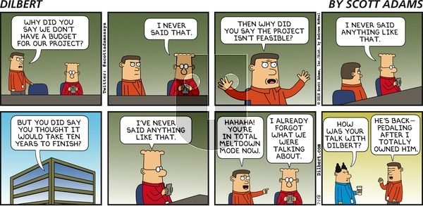 Dilbert on Sunday July 1, 2018 Comic Strip