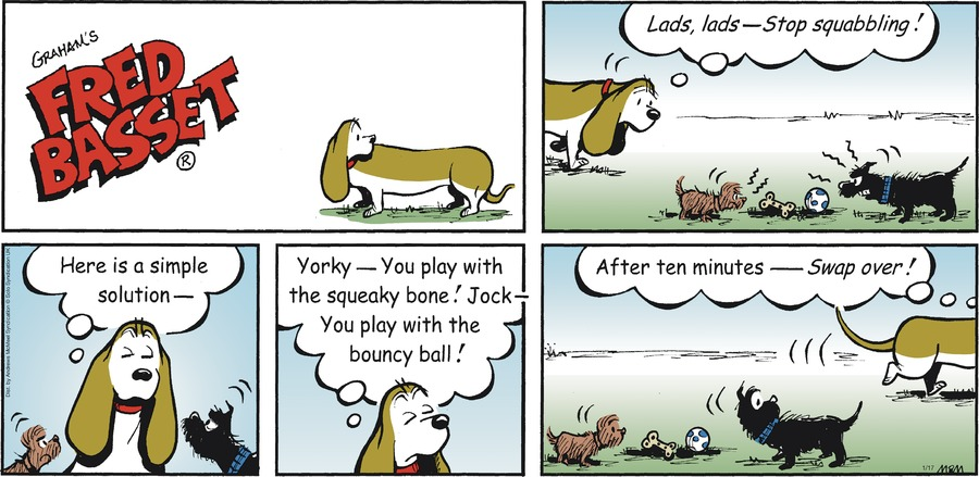 Fred Basset Comic Strip for January 17, 2021