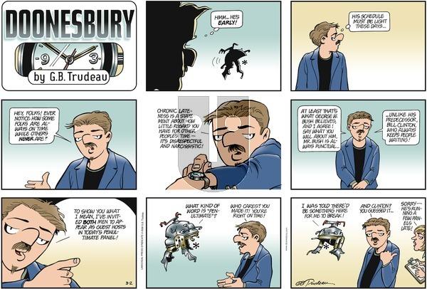Doonesbury on Sunday March 2, 2008 Comic Strip
