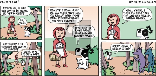 Pooch Cafe on Sunday March 17, 2019 Comic Strip
