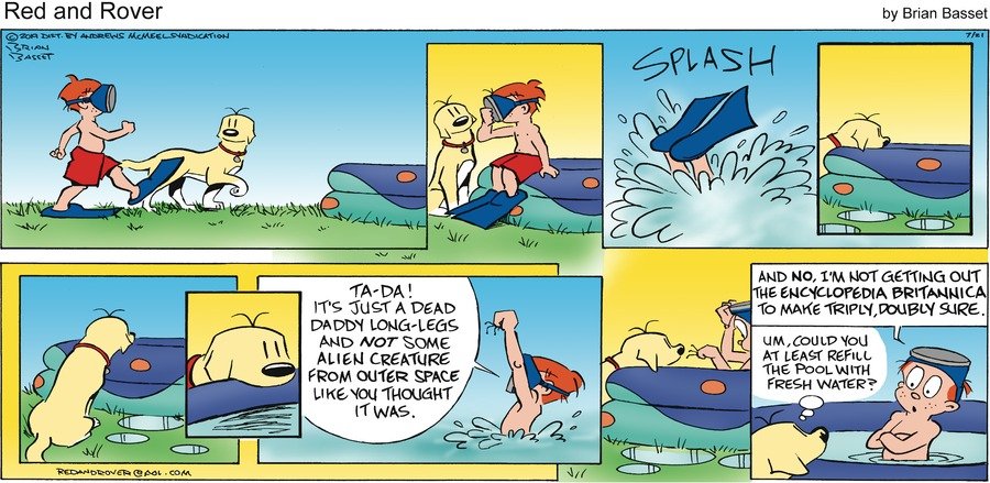 Red and Rover Comic Strip for July 21, 2019