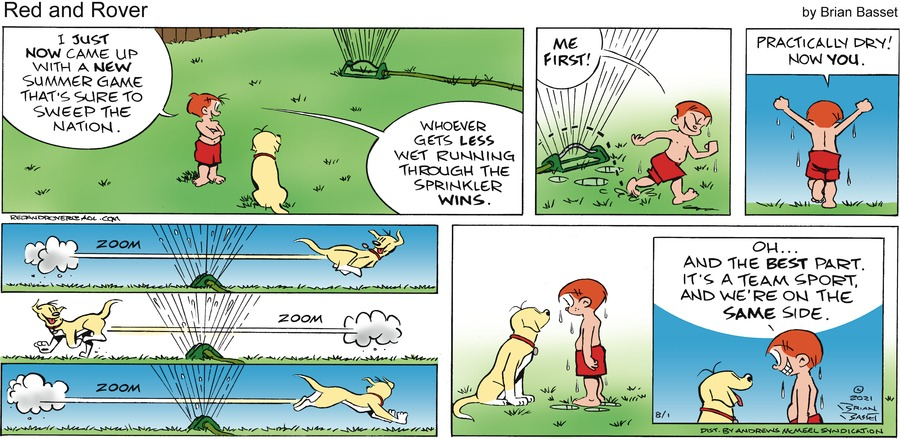 Red and Rover Comic Strip for August 01, 2021
