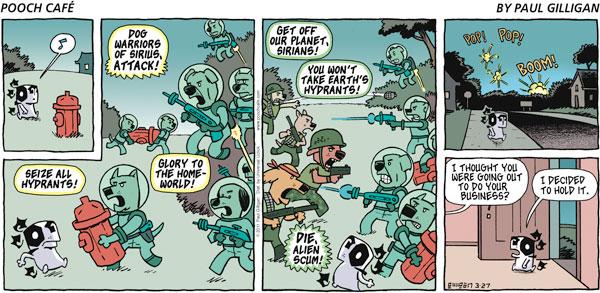 Pooch Cafe for Mar 27, 2011 Comic Strip