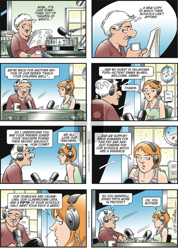 Doonesbury on Sunday May 13, 2018 Comic Strip
