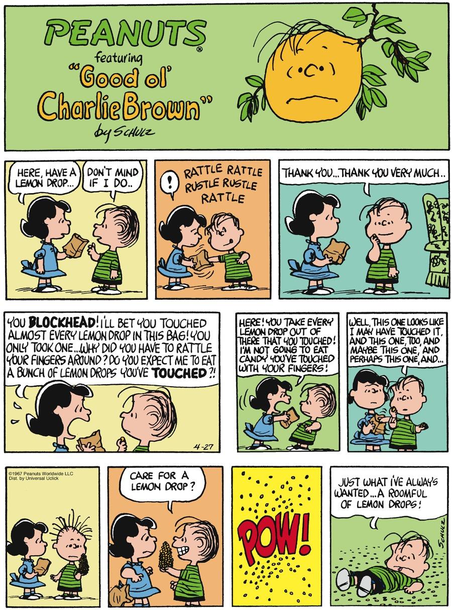 Peanuts for Apr 27, 2014 Comic Strip