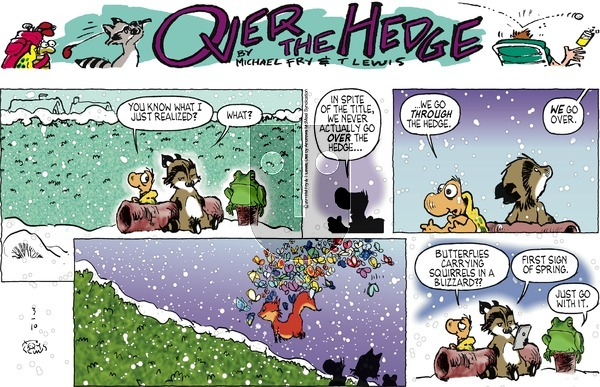 Over the Hedge on Sunday March 10, 2019 Comic Strip
