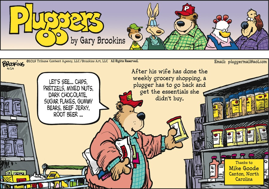 Pluggers Comic Strip for April 14, 2019