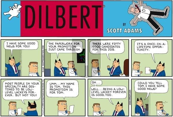 Dilbert on Sunday May 25, 2003 Comic Strip