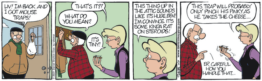 Ben Comic Strip for March 03, 2021
