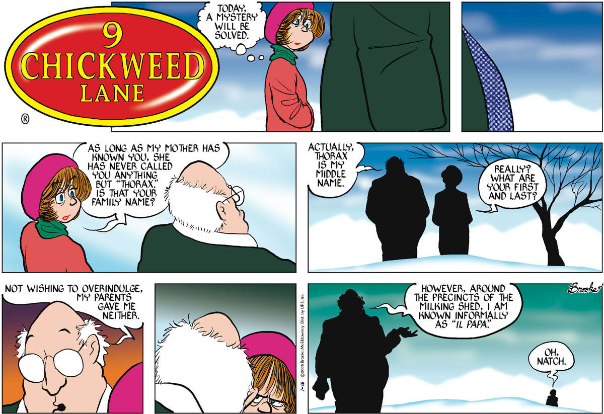 9 Chickweed Lane Comic Strip for January 16, 2005