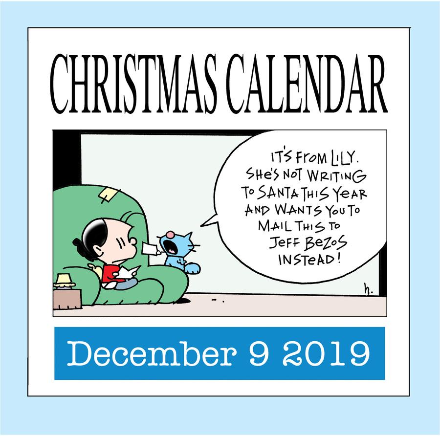 Ten Cats Comic Strip for December 09, 2019