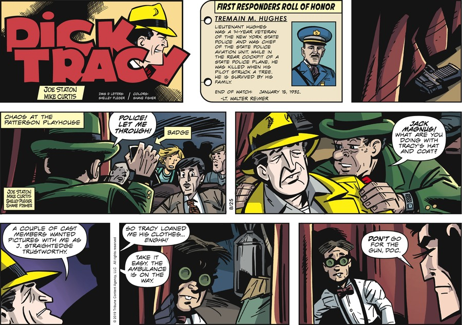 Dick Tracy Comic Strip for August 25, 2019
