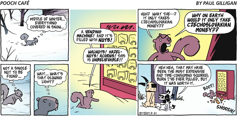 Pooch Cafe Comic Strip for February 21, 2016