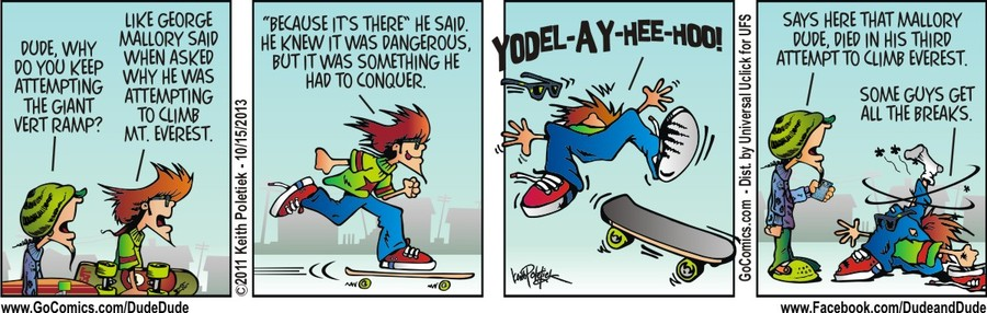 Dude and Dude for Oct 15, 2013 Comic Strip