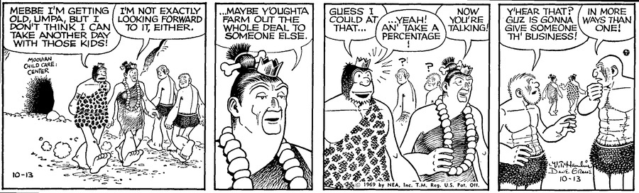 Alley Oop Comic Strip for October 13, 1969