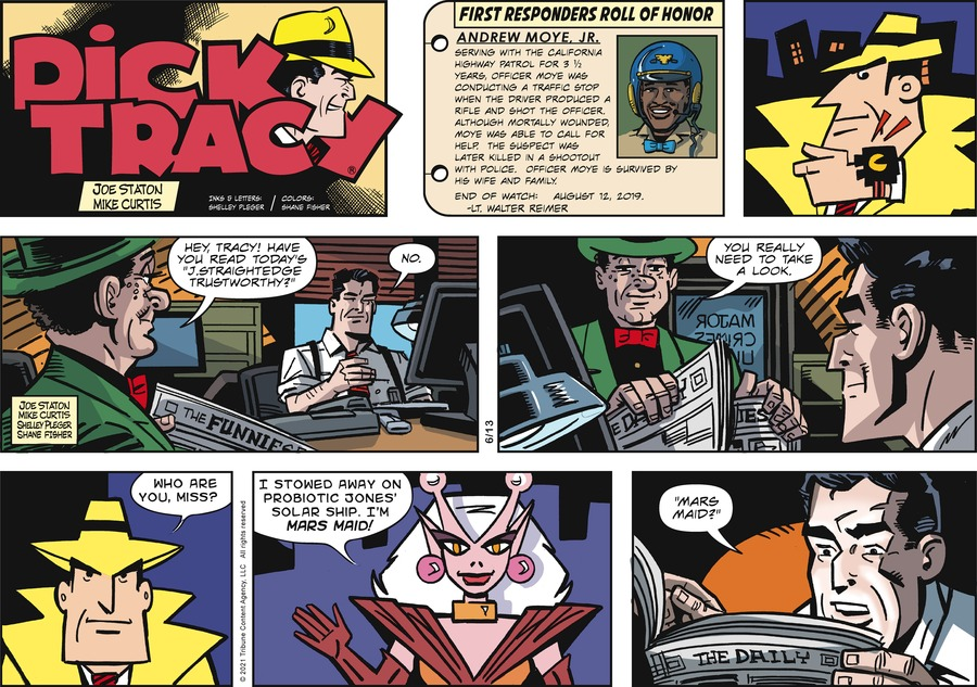 Dick Tracy Comic Strip for June 13, 2021